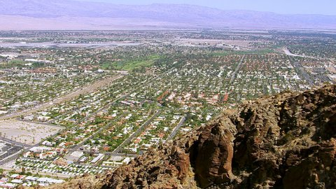 Aerial shot of Palm Springs California
