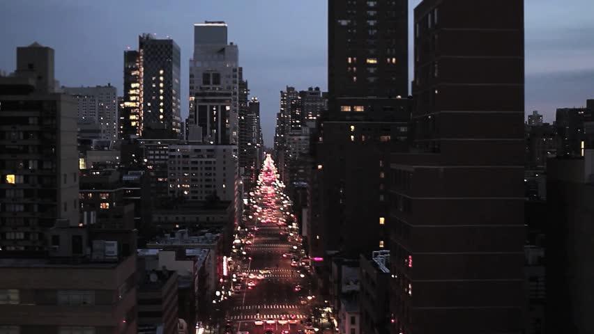Skyline of new york city. city at night. aerial view. big city. transportation. traffic. 1920x1080   Shutterstock HD Video #4587290