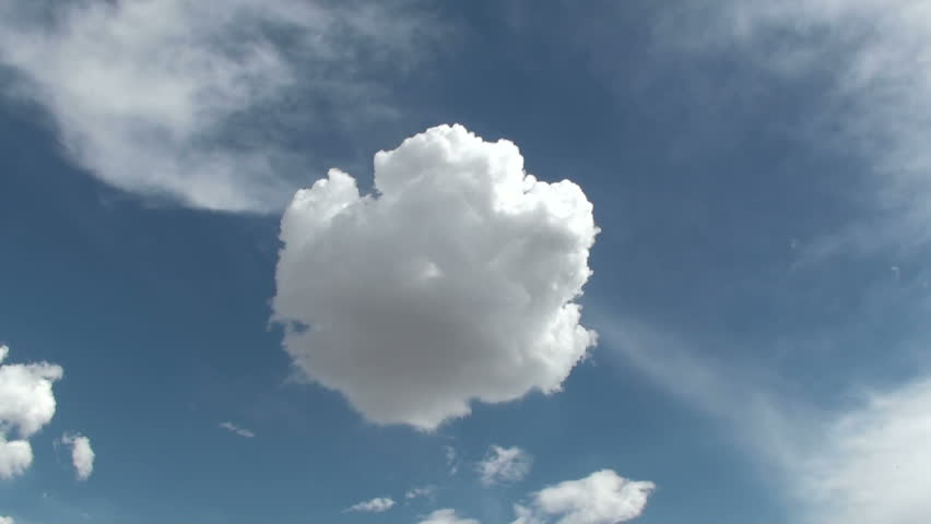 1920x1080 Cloud puff shifts shapes, dissipates, then poof... it's gone.