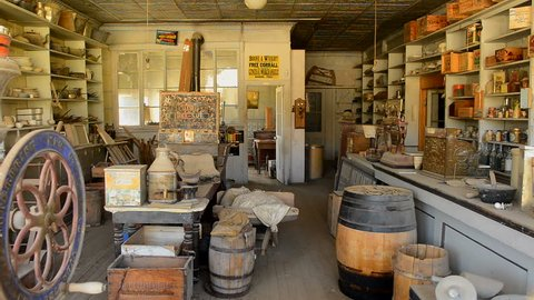 Bodie California - Abandon Mining Ghost Town Interior - Daytime