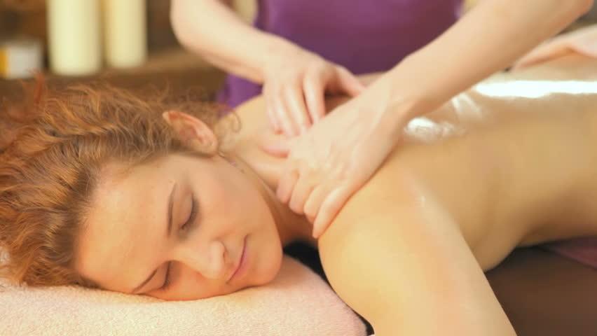 Cute Woman Gets Oil Massage