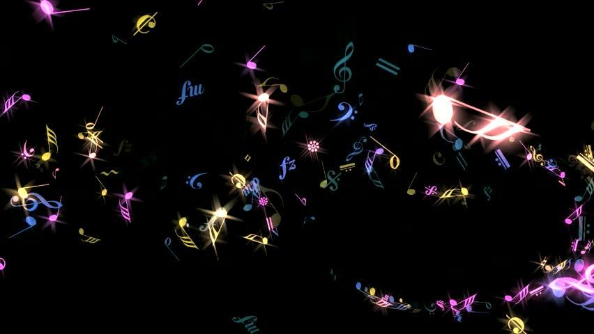Music Notes - Rainbow Sparking - Spurt Transition 2
