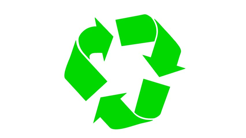 Animated Recycling Symbol Stock Footage Video 100 Royalty Free