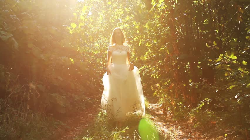 Beautiful Vintage Fashion Woman Fairy Tale Forest Bride Concept