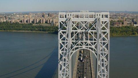 Aerial shot of George Washington Bridge, New York City