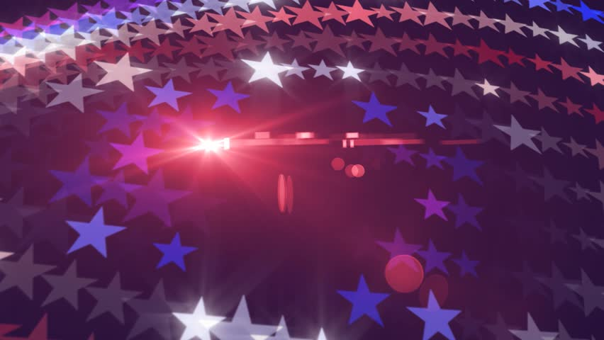 American Stars Abstract Animation