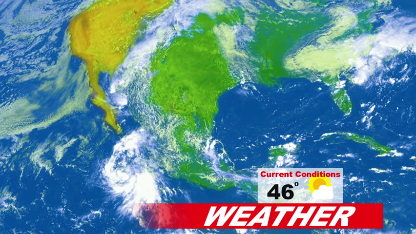 5 day weather forecast animation for broadcast meteorology