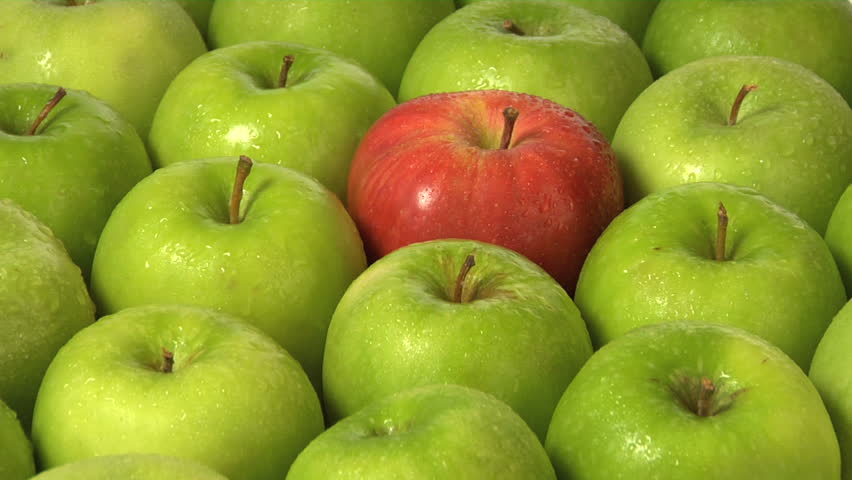 One red apple in a group of green | Shutterstock HD Video #4702910