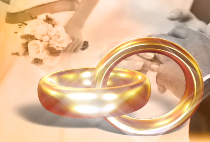 Sd00 08wedding Rings With Sparkle Wedding Background