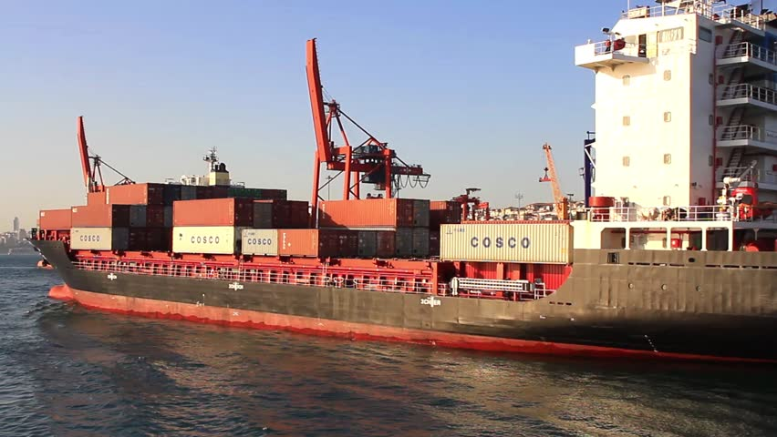 ISTANBUL - APR 29: Cargo ship CONTSHIP ECO (IMO: 9492751, Malta) sails from