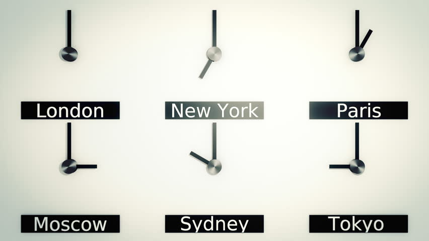 Time zones around the world in vintage style  | Shutterstock HD Video #4724570
