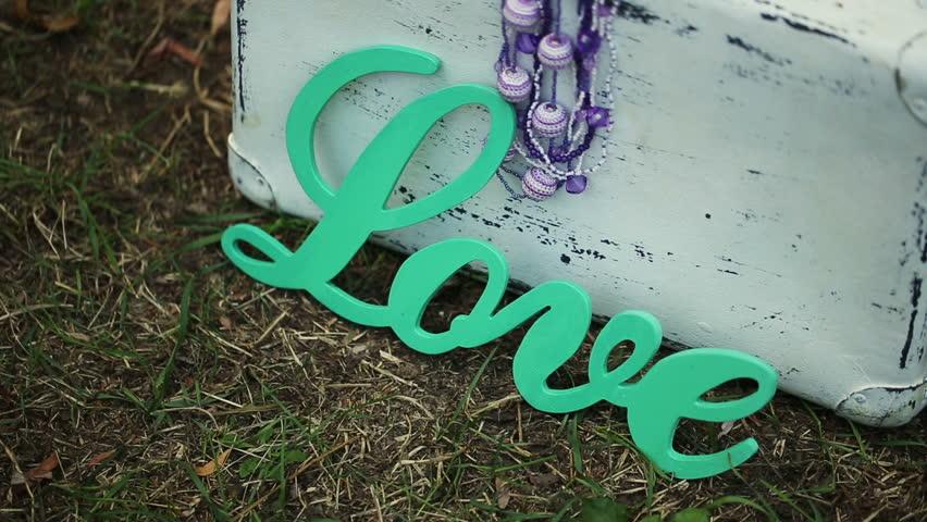 Love Word Vintage Hd Stock Footage Clip