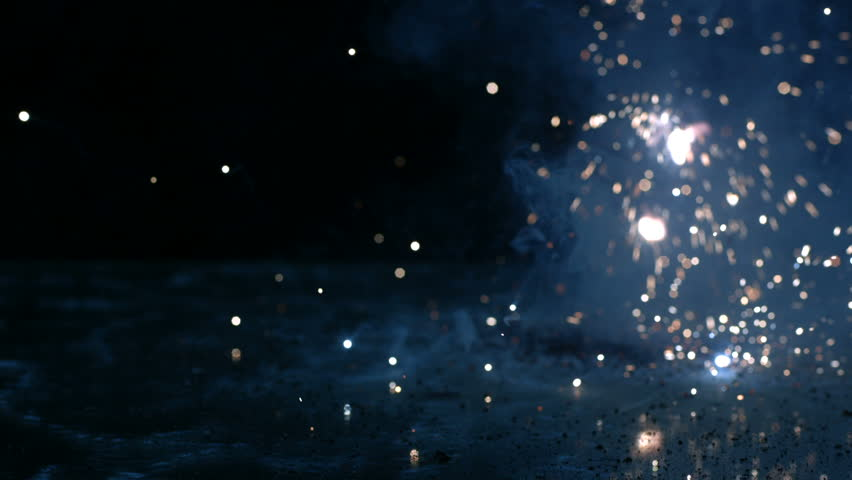 Flashing sparks on black background, slow motion | Shutterstock HD Video #4746140