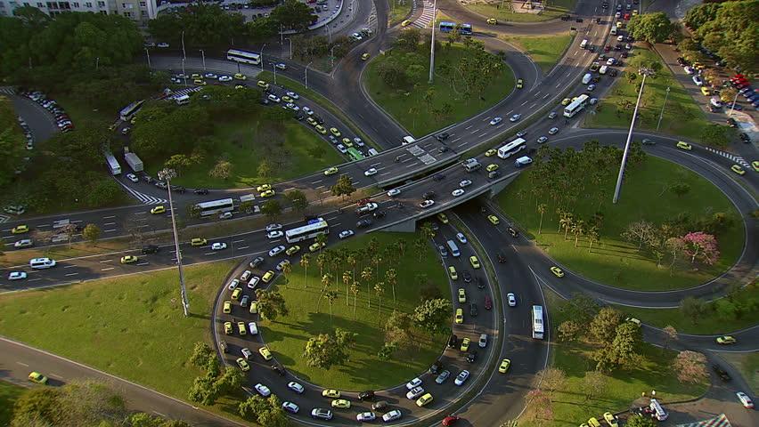 Traffic on freeway intersection, Rio de Janeiro, Brazil   Shutterstock HD Video #4759118