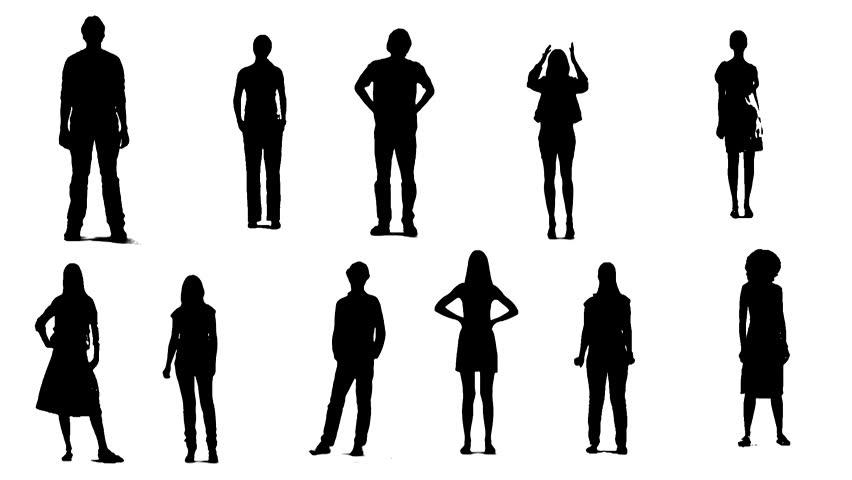 Human vector silhouette