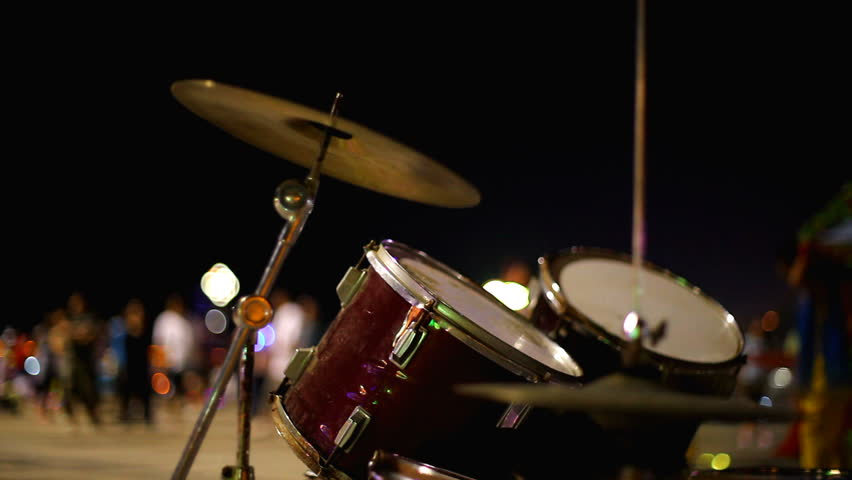 Drums in night