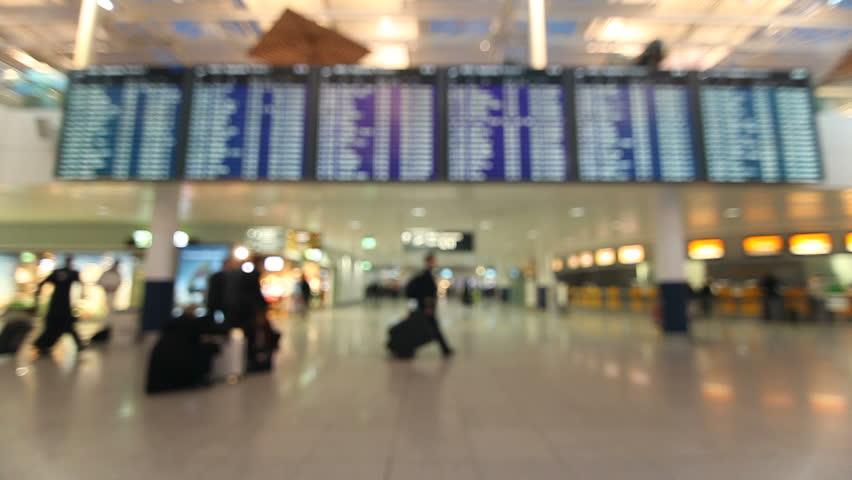 Airport terminal with passengers | Shutterstock HD Video #4791020
