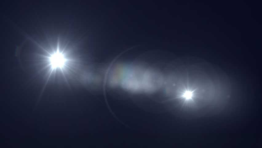 White Lens Flare Abstract Background