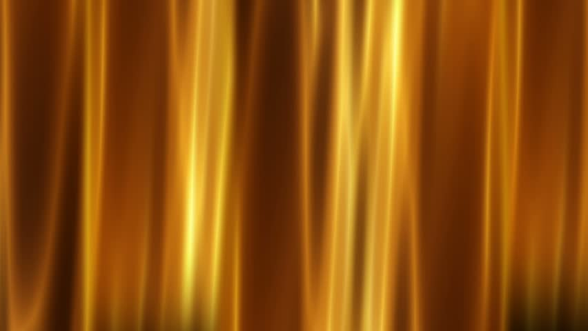 Abstract Motion Golden Colors Background Shining Lights And Curtain Like Forms Seamless Loop
