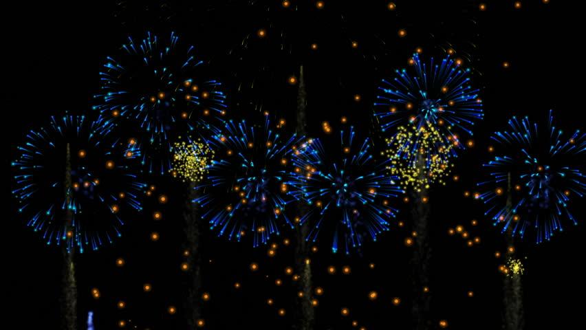 large fireworks display seamless loop
