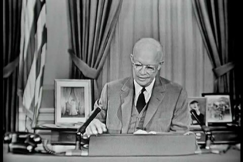 1950s - Dwight Eisenhower speaks about ICBM and surface to air missiles to aid in the defense of the nation in 1957.