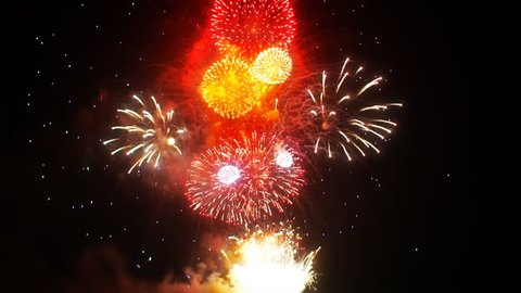 Multiple fireworks explosion