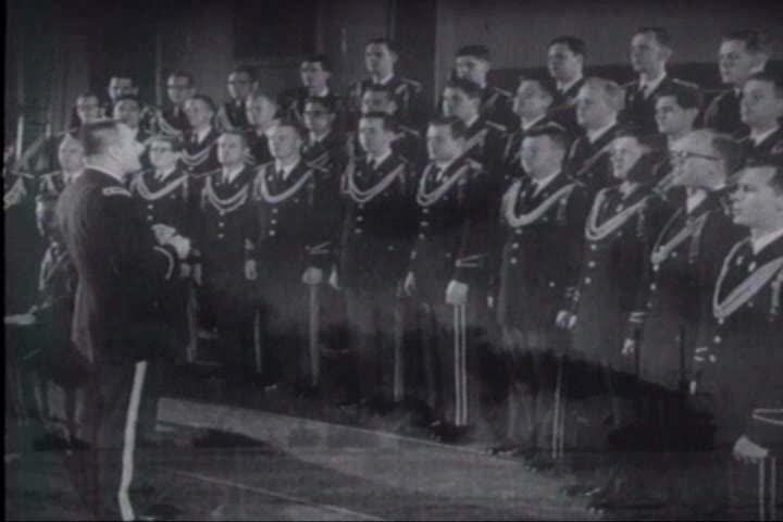 1910s - The Army band plays patriotic music honoring World War One.