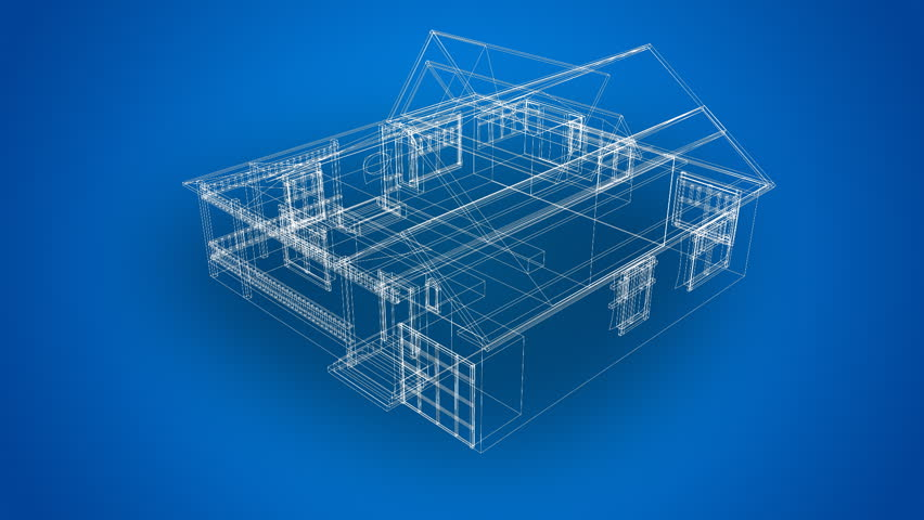 Wire frame 3d house stock footage video 489856 shutterstock wire frame house hd stock video clip malvernweather