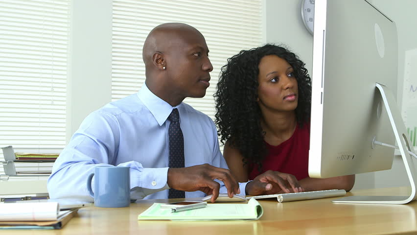 Image result for black man and woman in the office