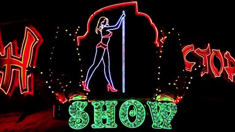 Strip show dance sign timelapse