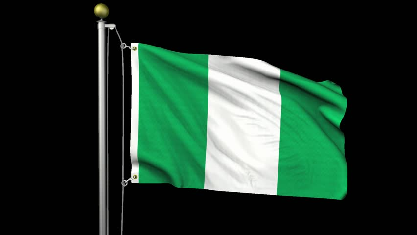 seamless looping high definition video of the nigerian flag waving