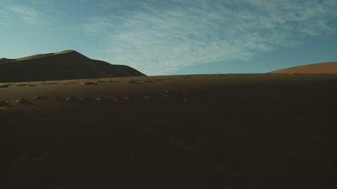 Travelling over Desert Dune, Morocco