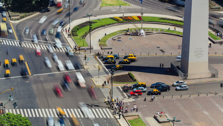 City Traffic Time Lapse 71 Buenos Aires Above