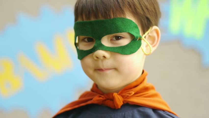 Superhero Boy Smiles For The Camera   Shutterstock HD Video #4986410