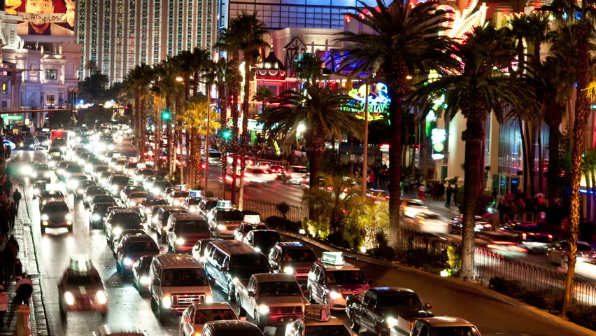 Time Lapse of the Las Vegas Strip at Night - 4k | Shutterstock HD Video #4994060