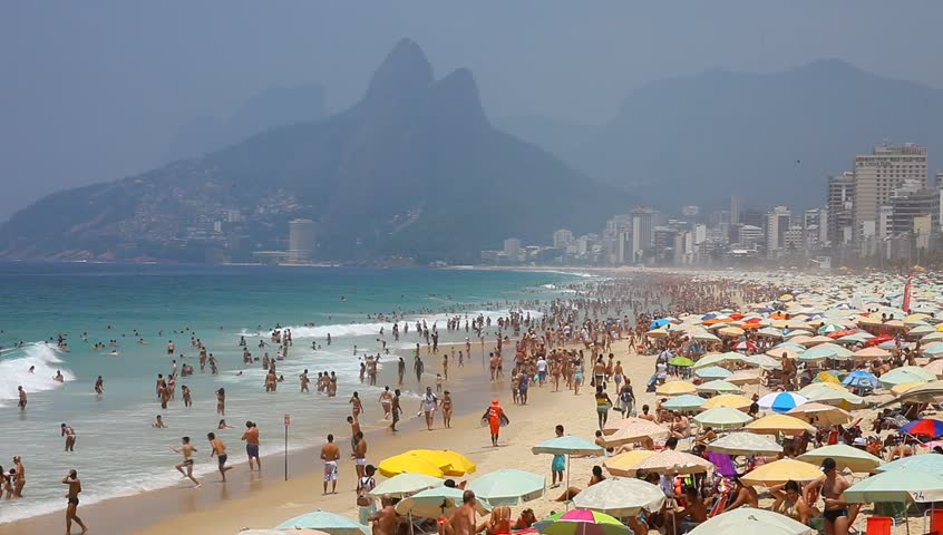 Ipanema Brazil- summer 2013: Ipanema beach, important point of sports in Rio de