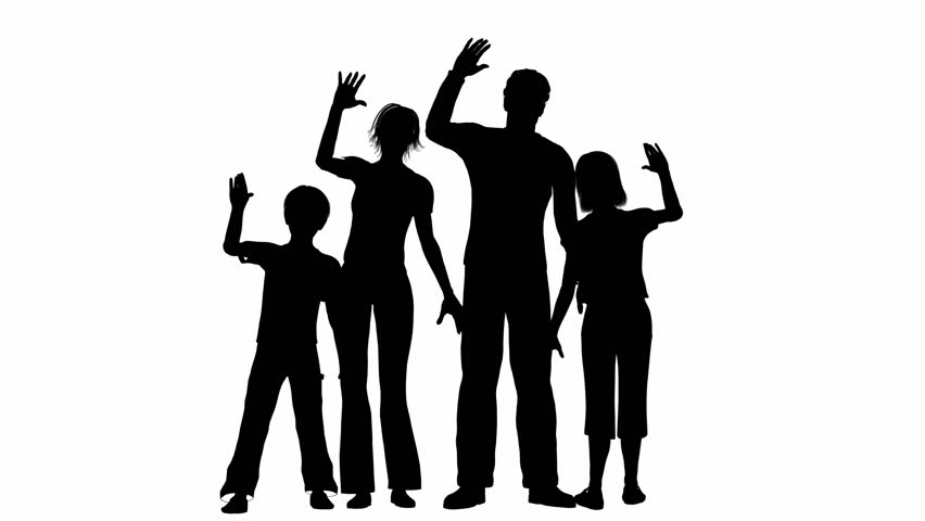 looping silhouette of a family waving stock footage video 5009060 shutterstock