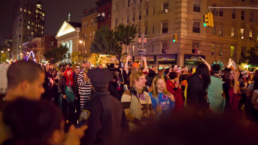 New York City Halloween Parade.New York October 31 Stock Footage Video 100 Royalty Free 5033330 Shutterstock