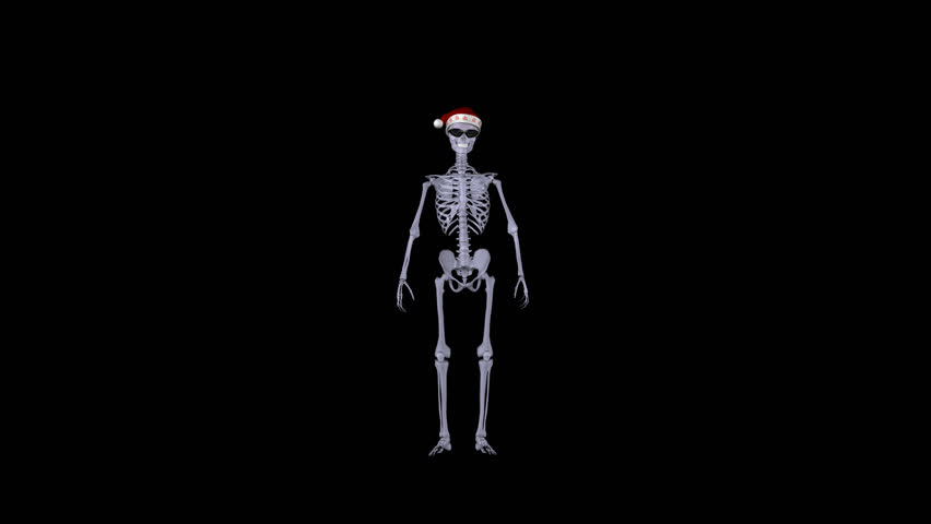 Funny Skeleton Dancer in Red Hat of Santa Claus - Alternative Xmas and New Year Eve & Cartoon Skeleton Dance/A Dancing Cartoon Skeleton. Blue Screen ... 25forcollege.com