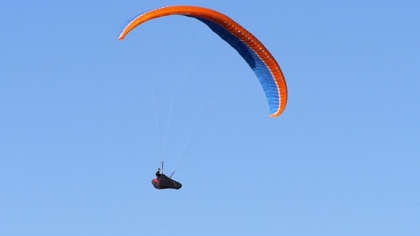 Paragliding. HD 1080p.