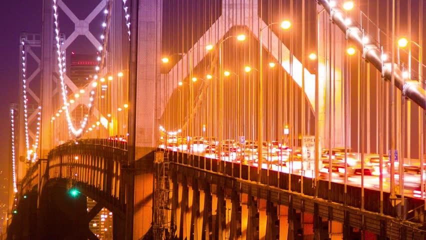 Bay Bridge Traffic at Night  Stock Footage Video (100% Royalty-free)  5056190 | Shutterstock