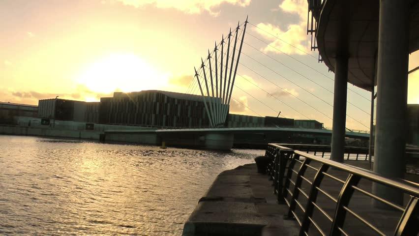 Modern Urban City Landscape - BBC Broadcasting Center, Media City UK , Salford