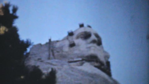 BLACK HILLS, SOUTH DAKOTA, 1940: An amazing collection of clips showing Mount Rushmore being built in 1940.