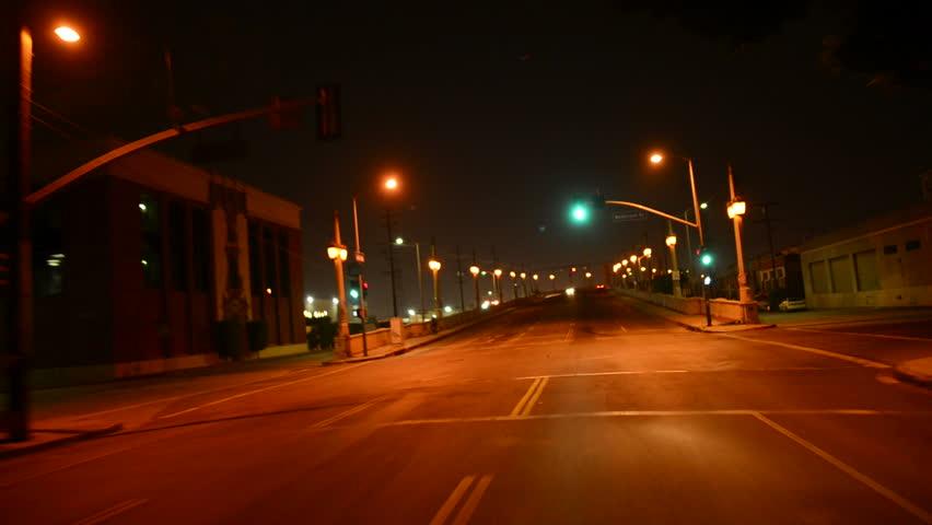 Driving POV LA Downtown 11 Night USA 60 seconds