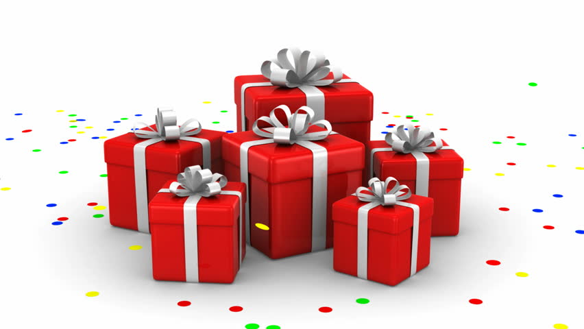 Animation of opened gift box with confetti inside hq video clip gift boxes white background 4 in 1 hd stock video clip negle Gallery