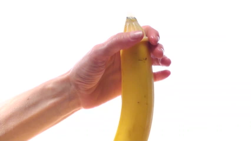 Stock Video Clip Of Condom On Banana - Hd  Shutterstock-9560