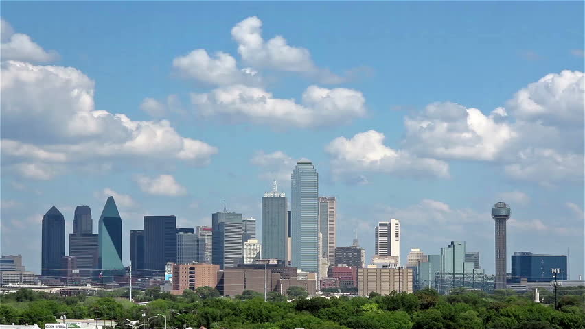 DALLAS-OCTOBER 1: A Time Lapse of Skyline Dallas, Texas on October 1 2013. Dallas is the ninth most populous city in the United States and the third most populous city in the state of Texas.