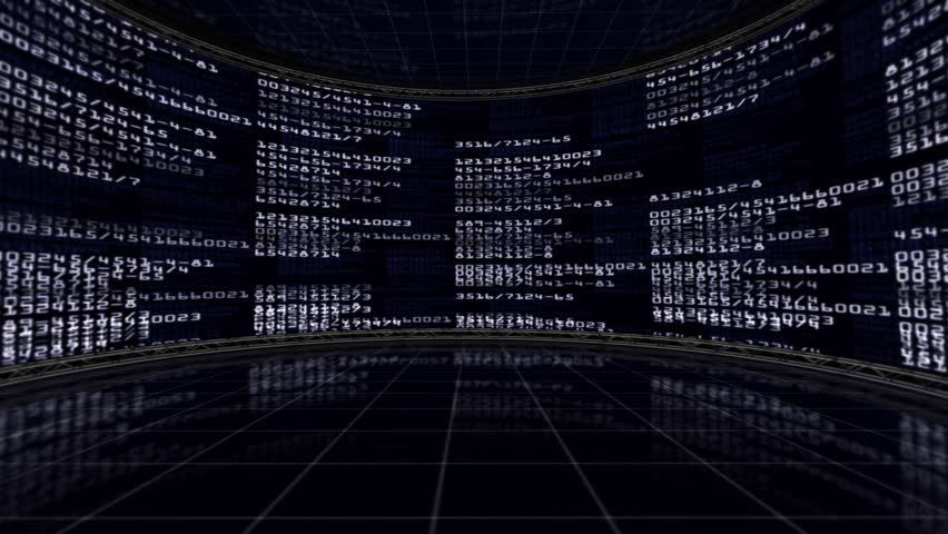 Numbers in Monitors Background | Shutterstock HD Video #5114990