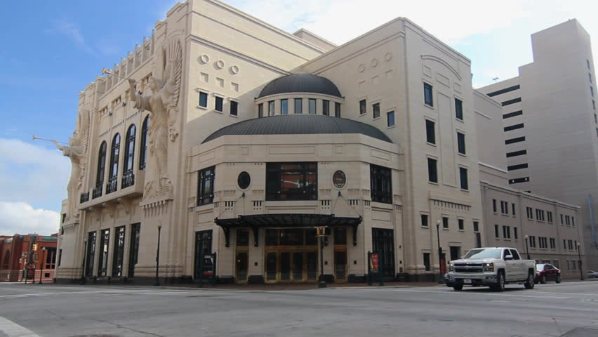 FORT WORTH - NOV 16: The Bass Concert Hall in downtown Fort Worth near the Sundance Square was opened in 1998. It was built entirely with private funds. Nov 16th 2013, Fort Worth