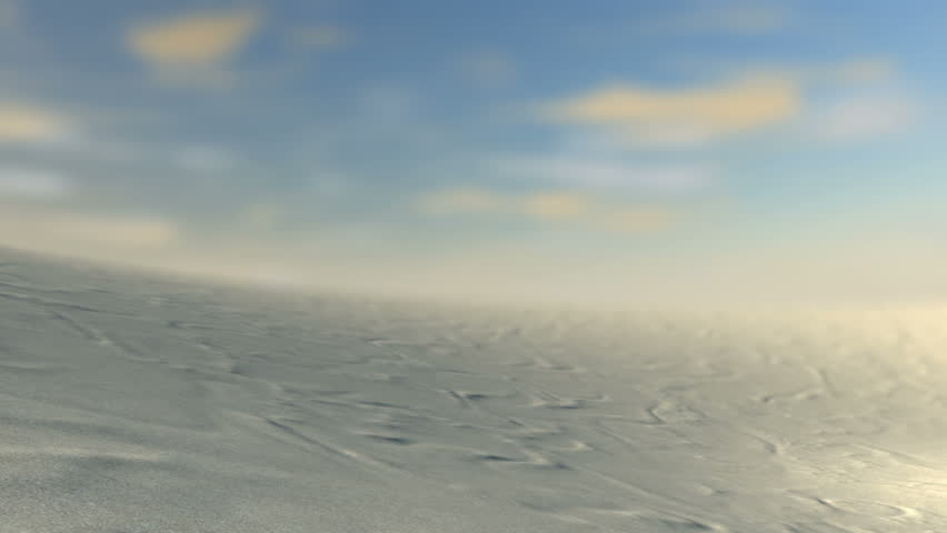 A slow close up pan across a desert revealing  two stone tablets with the ten commandments inscribed onto them on a blue sky background